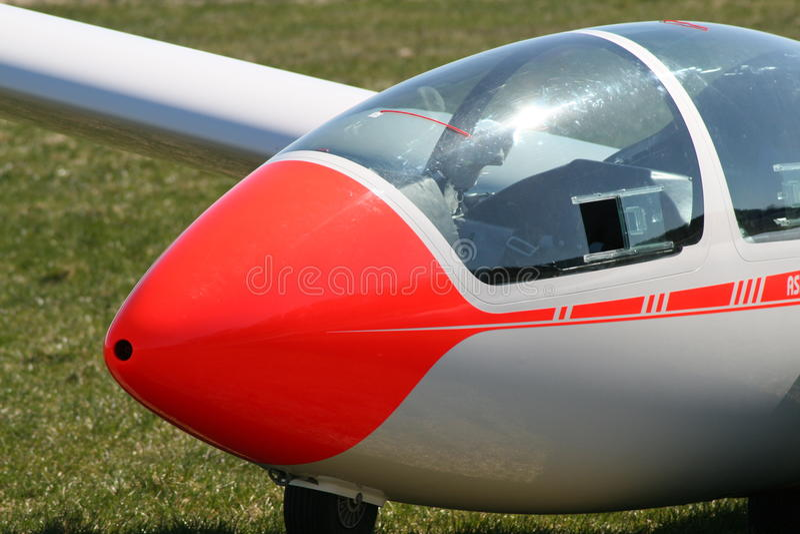 Cockpit eines Segelflugzeugs stockfotos