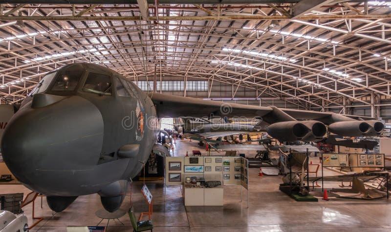 Cockpit en vleugel van Darwins-Trots op het Australische Centrum van de Luchtvaarterfenis, Darwin royalty-vrije stock foto