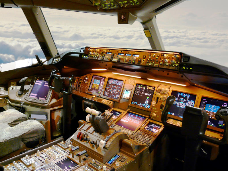 Cockpit jet royalty free stock image