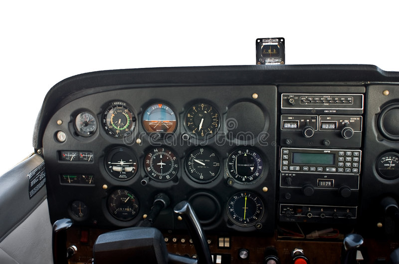 Download Cockpit of light airplane. stock image. Image of cabin - 8459243