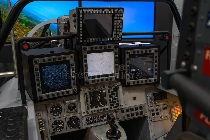 Fighter Pilots Cockpit View On Routine Flight Stock Image