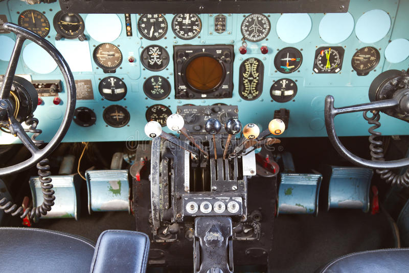 Cockpit van Douglas gelijkstroom-3 stock afbeelding