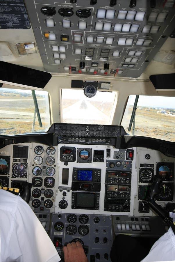 cockpitbild arkivbild