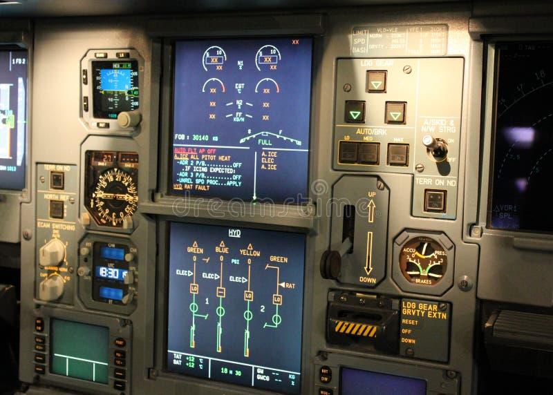 Cockpitdetaljer arkivbild