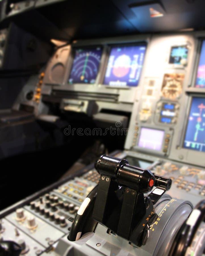 Cockpitdetaljer royaltyfria foton