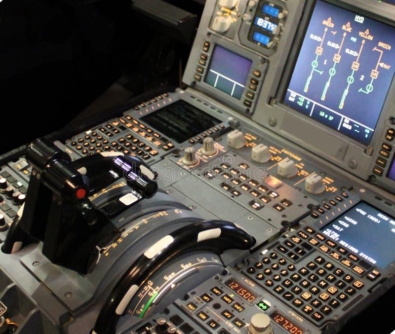 Cockpitdetaljer royaltyfri fotografi