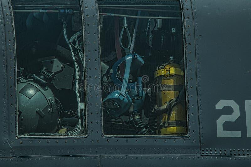 Cockpiten av förenar tillståndsflygvapen Globemaster arkivbilder