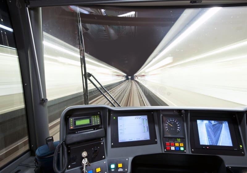cockpitgångtunnel fotografering för bildbyråer