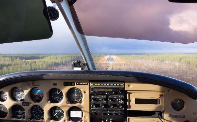 Cockpitsikt arkivfoton