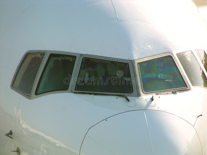 Cockpitwindow foto de stock