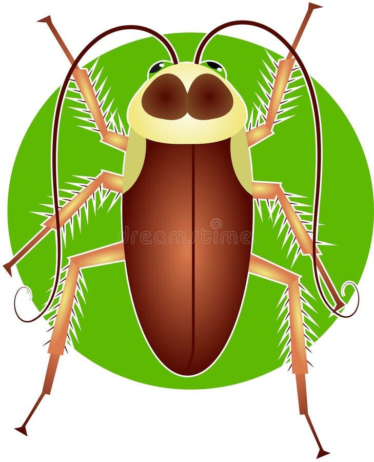 Cockroach. Bug illustration stock illustration