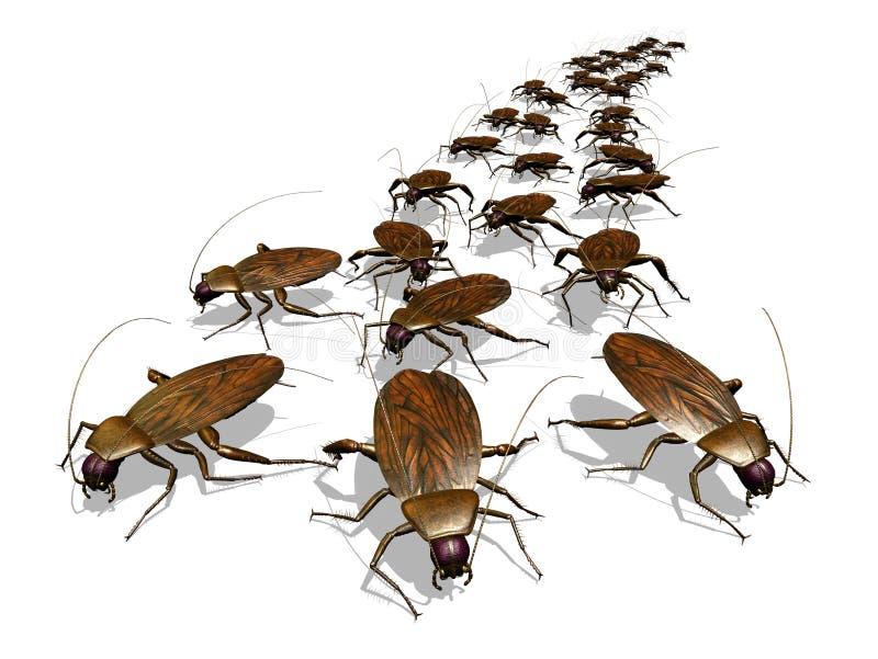 Cockroach Invasion royalty free illustration