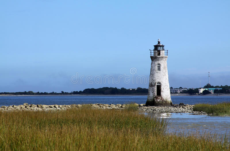 Cockspur Island Lighthouse royalty free stock photography