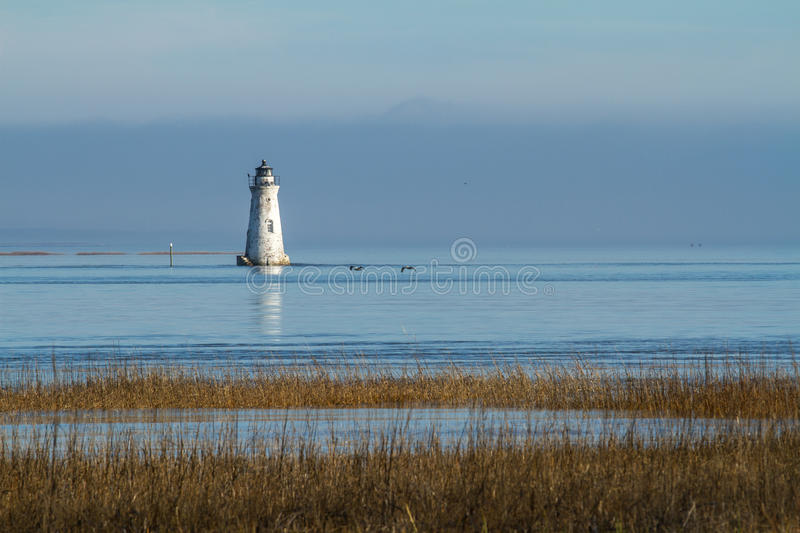 Cockspur Lighthouse royalty free stock image