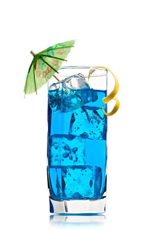 Cocktai blu del curacao fotografia stock libera da diritti