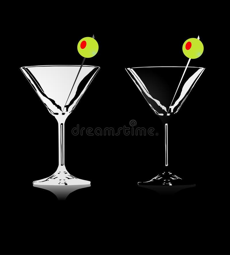 cocktaiillustrationvektor stock illustrationer