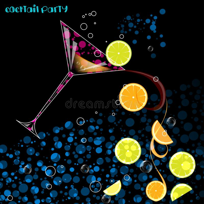 Cocktail à l'obscurité illustration stock