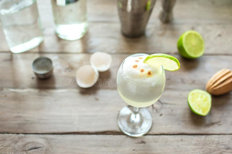Cocktail ácido de Pisco imagem de stock