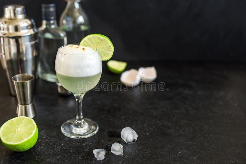 Cocktail ácido de Pisco imagens de stock royalty free