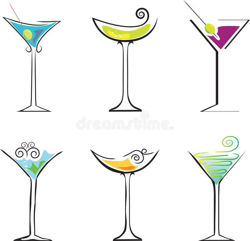 cocktail illustration de vecteur