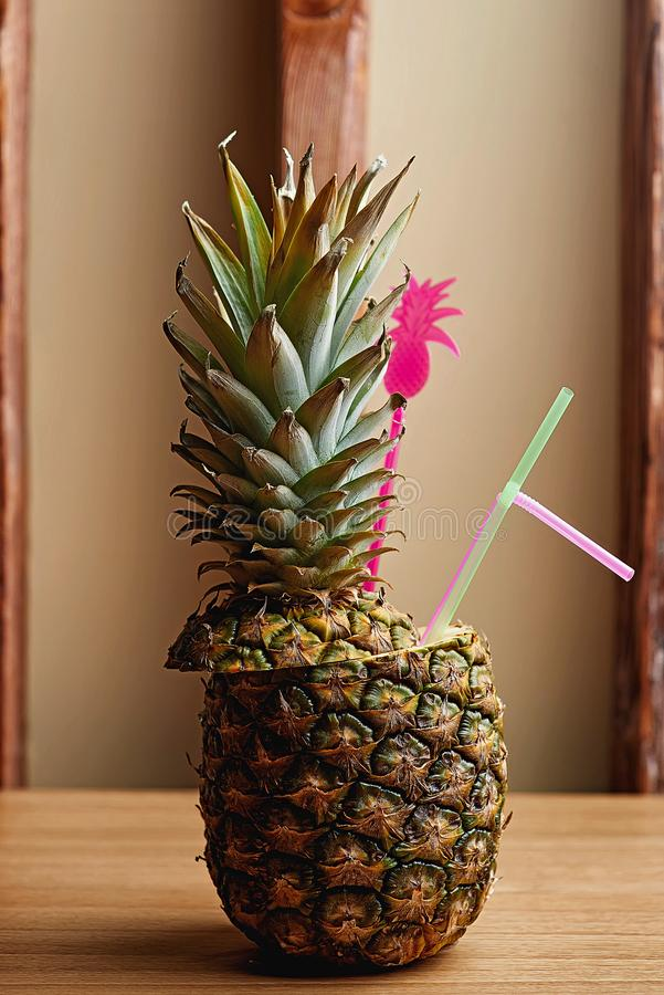 Alcohol ananas Cocktail blur background royalty free stock images