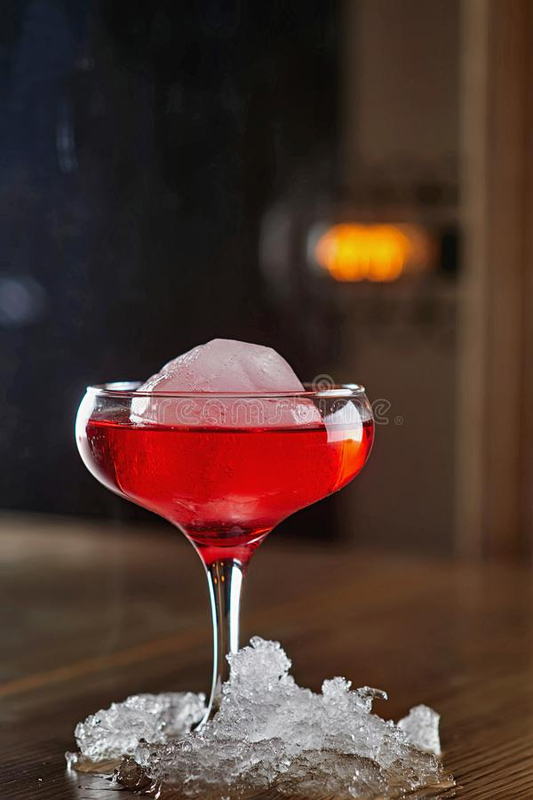 Alcohol Cocktail blur background stock photography