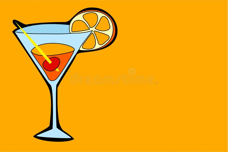 Cocktail stock illustration