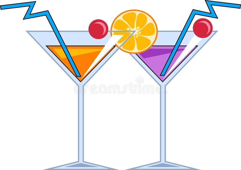 Cocktail ilustração do vetor