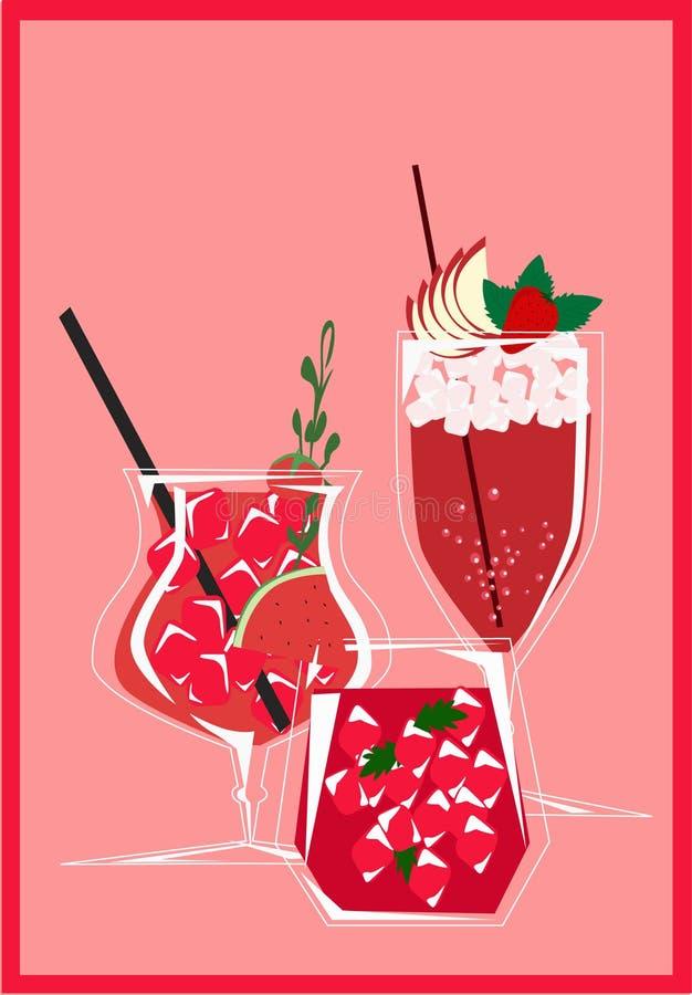 Cocktail ilustração royalty free