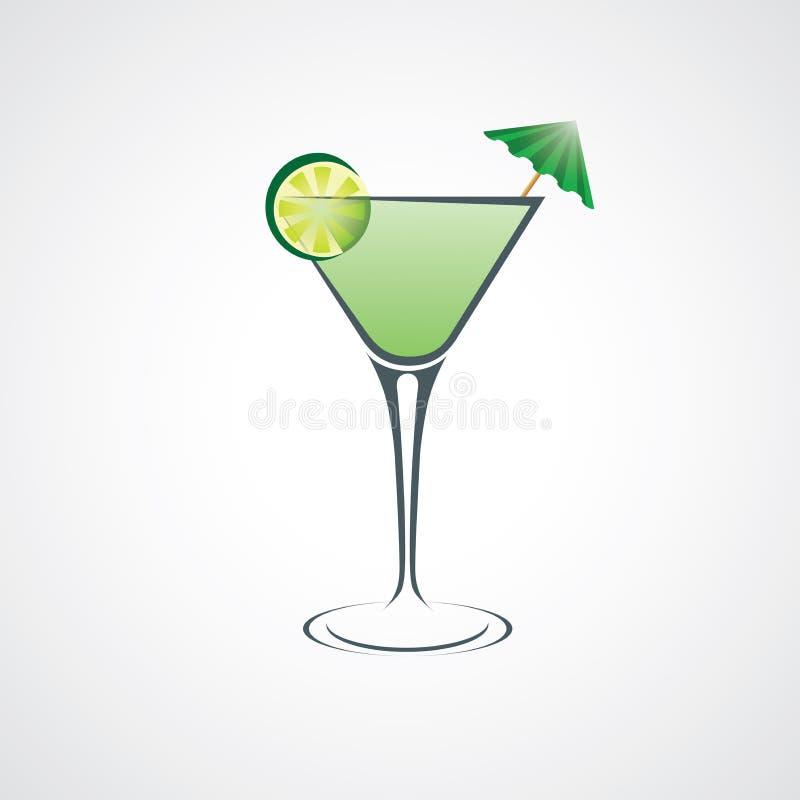Cocktail abstracte Vectorillustratie royalty-vrije stock afbeeldingen