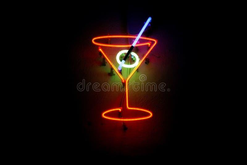Cocktail al neon immagini stock libere da diritti