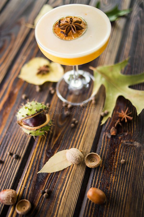 Cocktail alcoólico alaranjado fotografia de stock