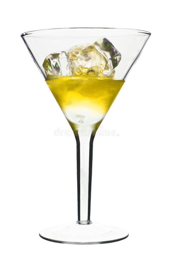 Cocktail alcolico giallo fotografia stock libera da diritti