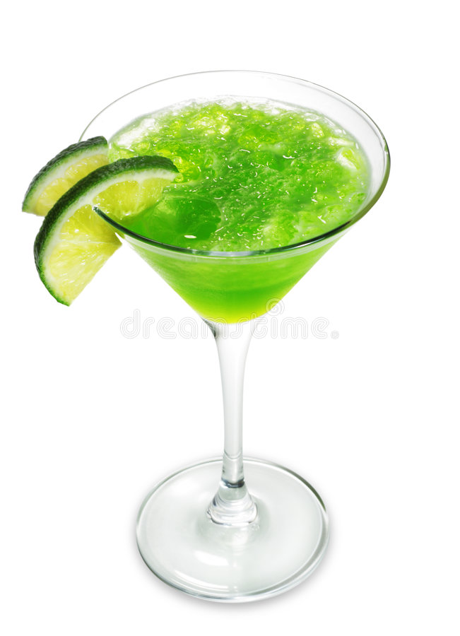 Cocktail alcolico verde immagini stock