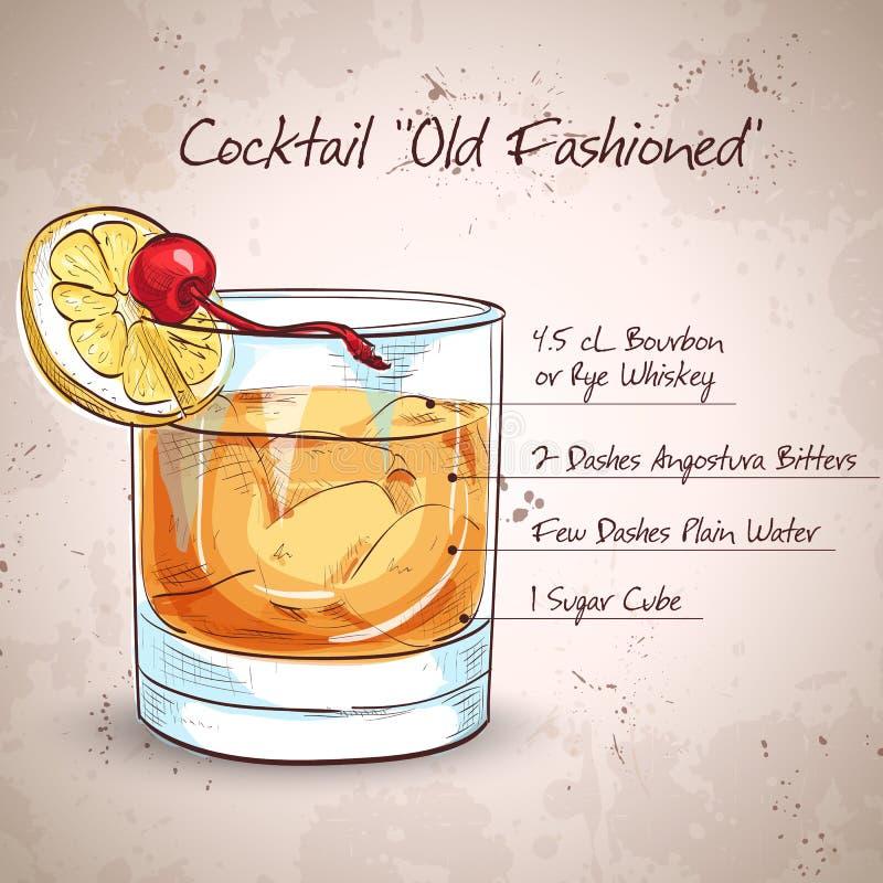 Cocktail antiquato illustrazione di stock