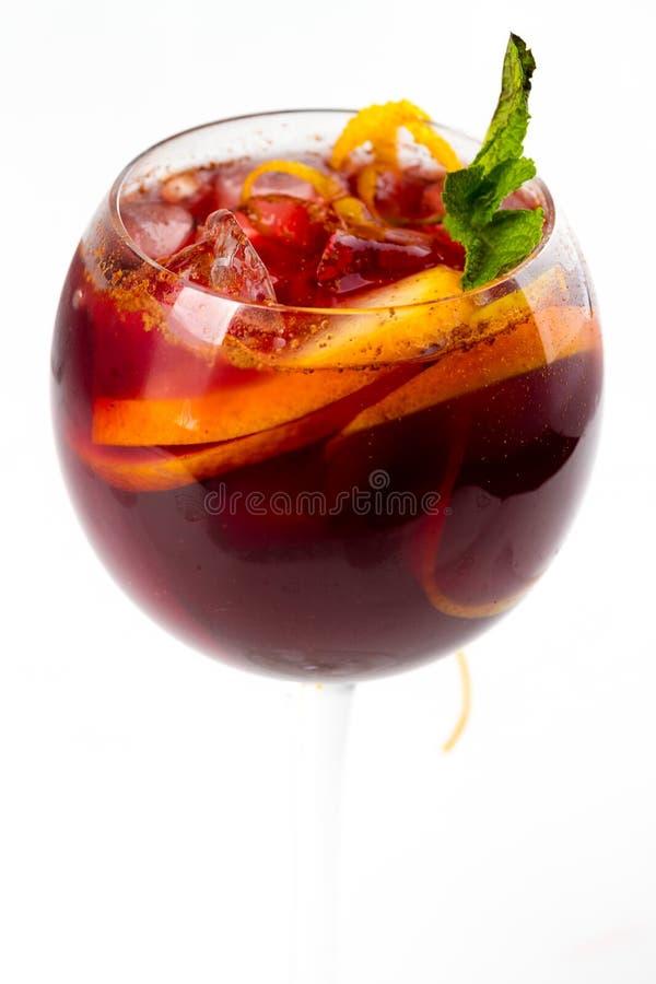 Cocktail avec l'orange photos stock