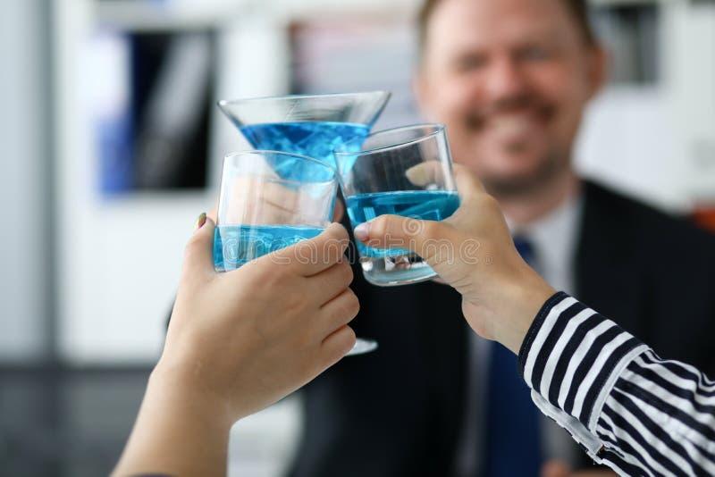 Cocktail azuis deliciosos fotos de stock royalty free