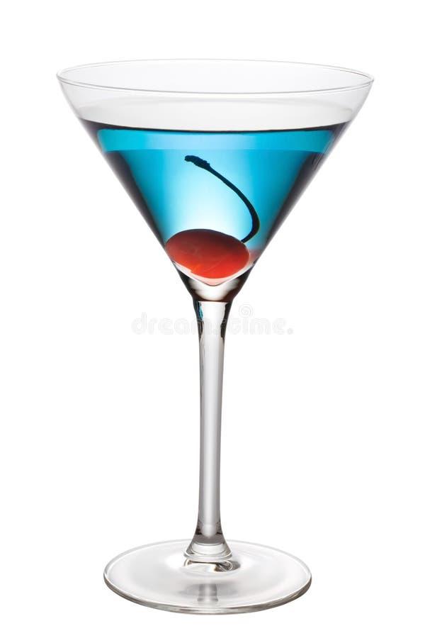 Cocktail azul com trajeto da pena fotos de stock