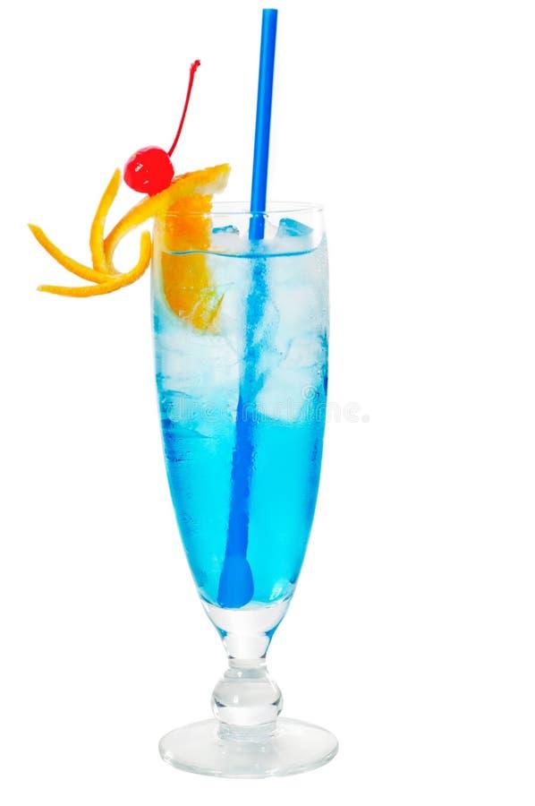 Cocktail azul da bebida longa foto de stock
