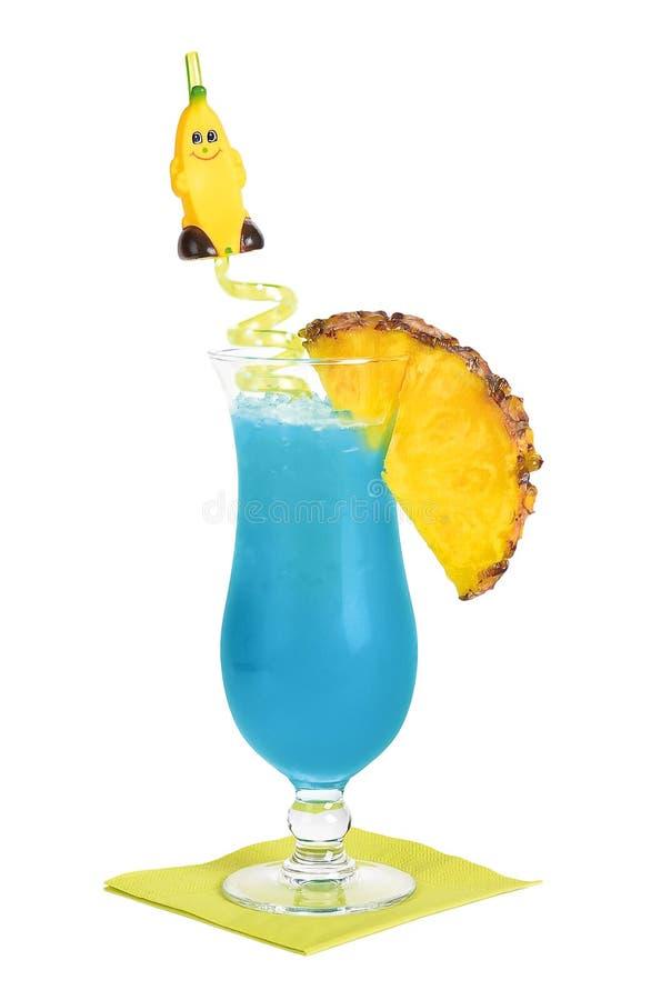 Cocktail azul de Havaí fotos de stock