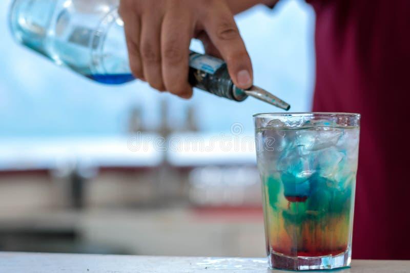 Cocktail azul de Hava? imagens de stock royalty free