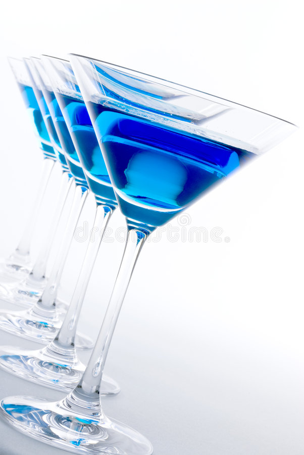 Cocktail azul de Martini fotografia de stock royalty free