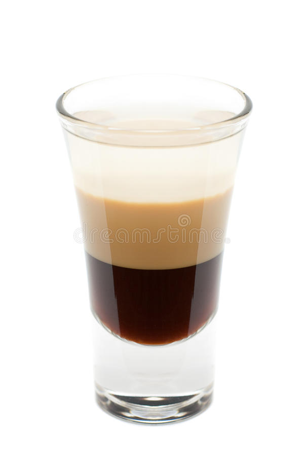 Cocktail - B-52 d'isolement images stock