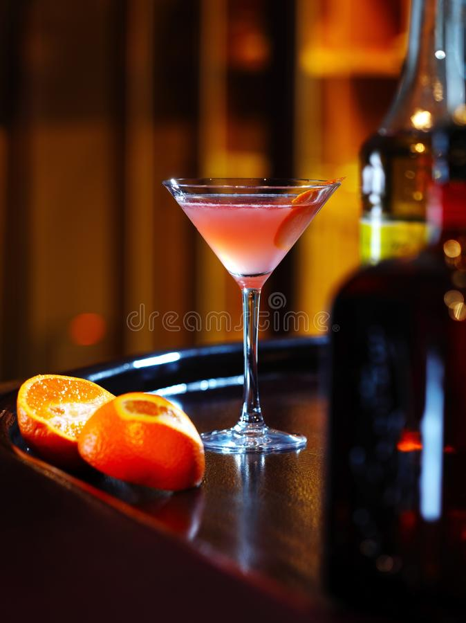 Cocktail on the bar royalty free stock photos