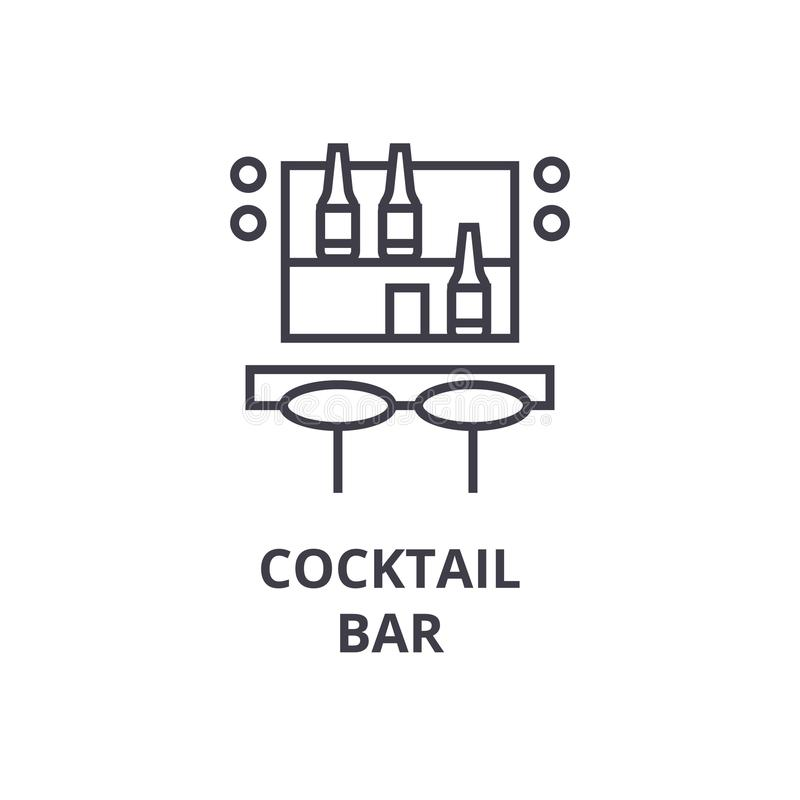 Download Cocktail Bar Line Icon, Outline Sign, Linear Symbol, Vector, Flat Illustration Stock Photo - Image of mojito, counter: 105343696