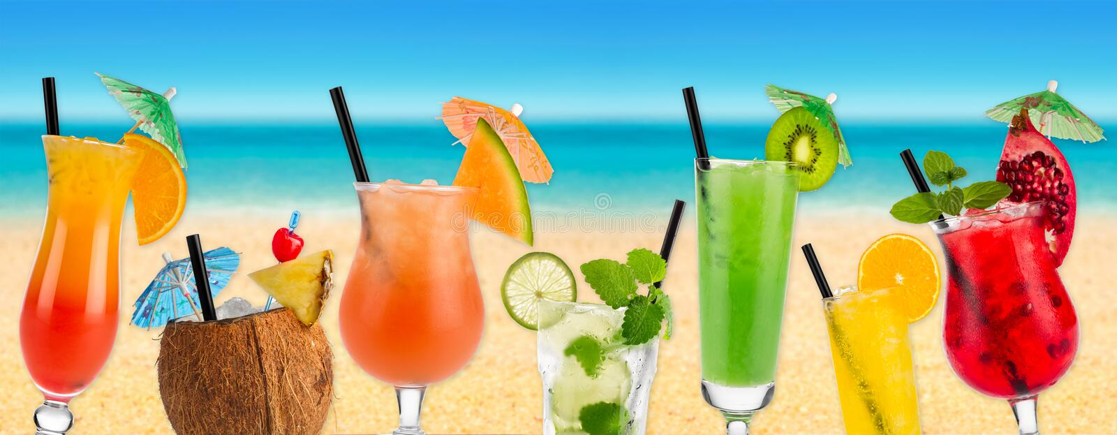 Cocktail beach I royalty free stock images