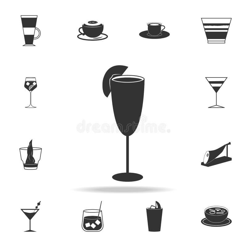 Cocktail bellini Ikone Ausführlicher Satz italienische Nahrungsmittelillustrationen Erstklassige Qualitätsgrafikdesignikone Ein d vektor abbildung