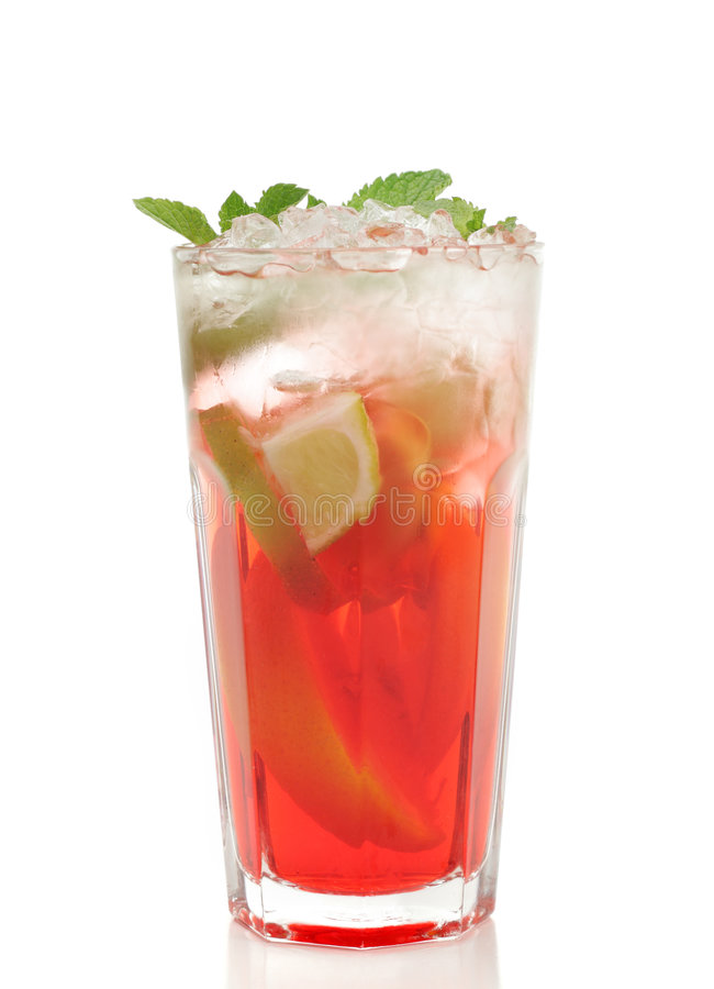 Cocktail - Bevroren Thee royalty-vrije stock foto