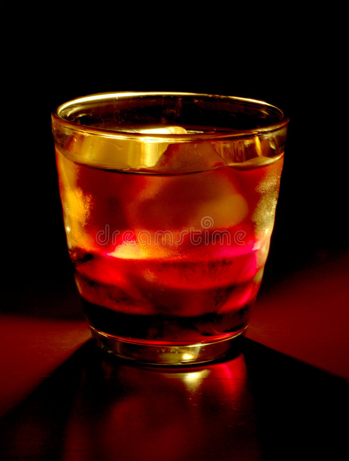 Cocktail On Black Royalty Free Stock Photo
