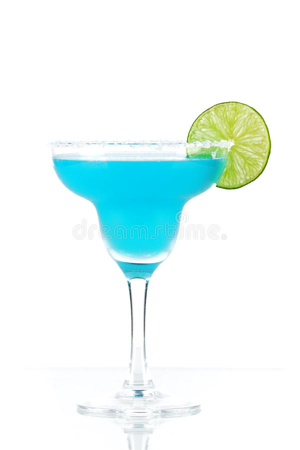 Cocktail bleu de margarita photo stock